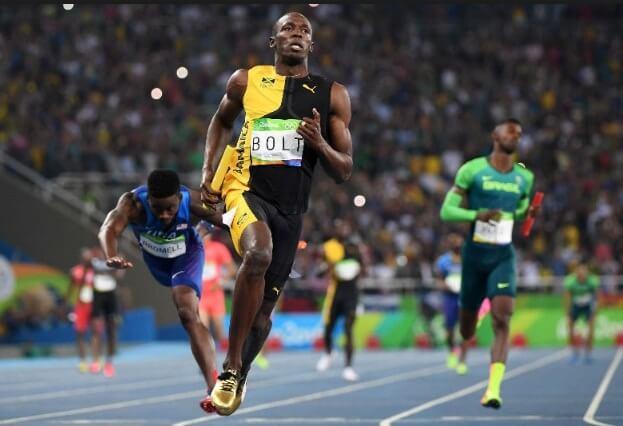 Usain Bolt ganó su tercera medalla de oro con Jamaica en el relevo 4x100