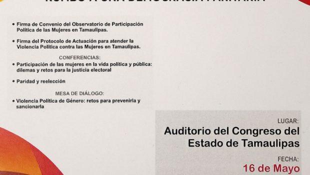 Tamaulipas rumbo a una democracia paritaria
