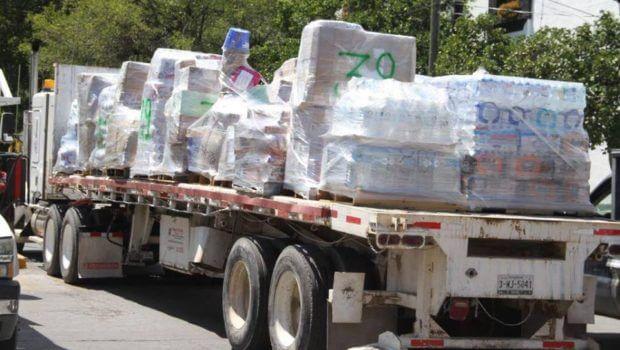 102 toneladas de ayuda donan victorenses 24-sep17