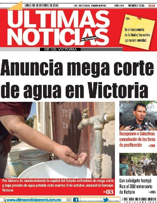 portada ultimasnoticias 08oct18