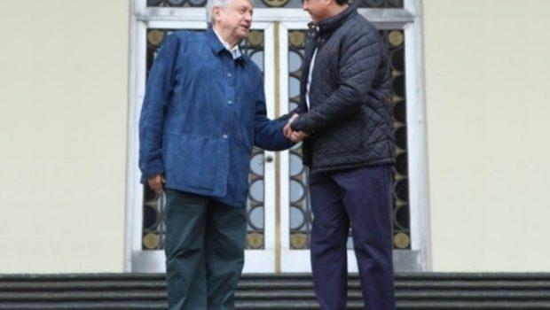 Gobernador recibe a López Obrador en Victoria