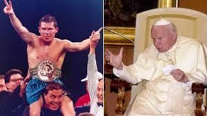 Revelaron que Julio César Chávez inhaló cocaína en el baño privado del papa Juan Pablo II
