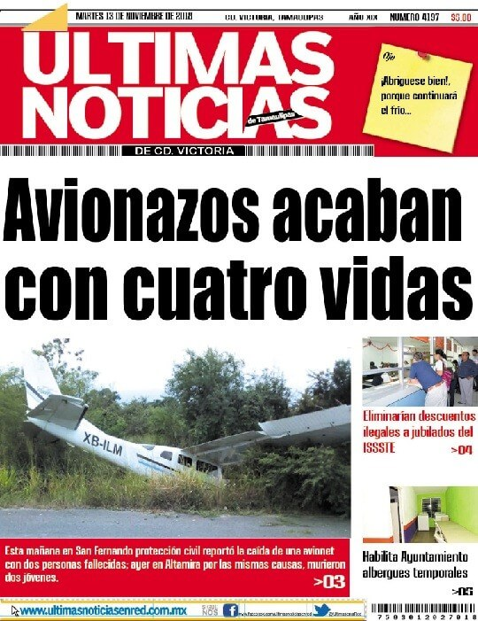 portada  ultimasnoticias 13nov18