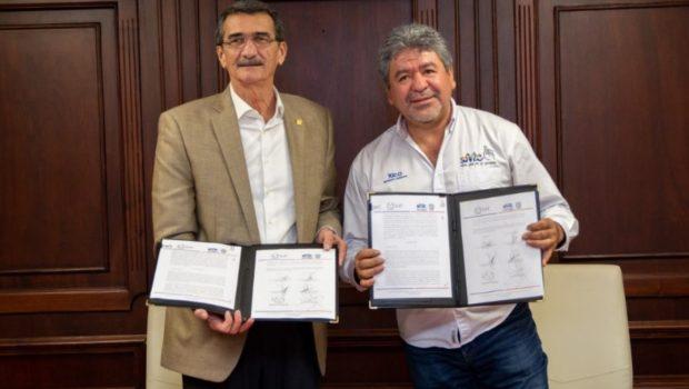 Firman la UAT y Municipio de Victoria convenio de colaboración