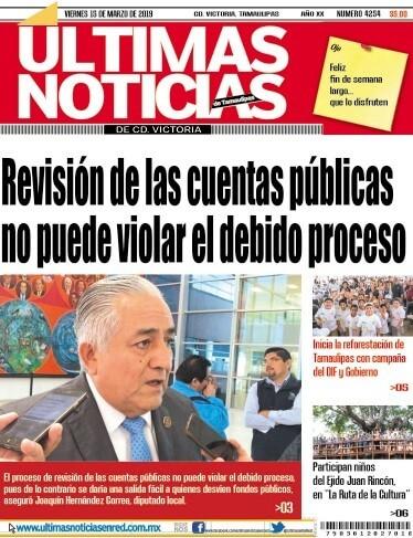 portada ultimasnoticias 15mar19