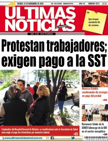 portada ultimasnoticias 15nov19